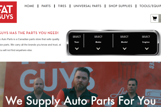 Fat Guys Auto Parts Homepage